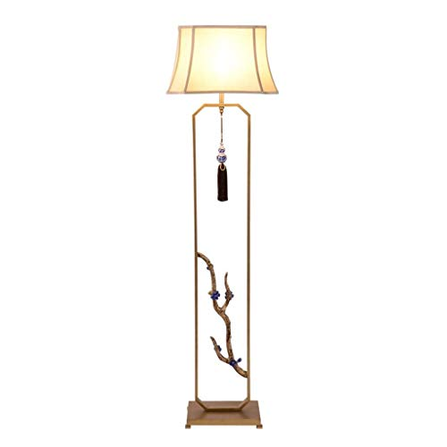 ZCYXQR Lámpara de pie Lámpara de pie Moderna Nueva Sala de Estar Lámpara de pie de Hierro Forjado Luz de Suelo de cabecera Vertical Retro