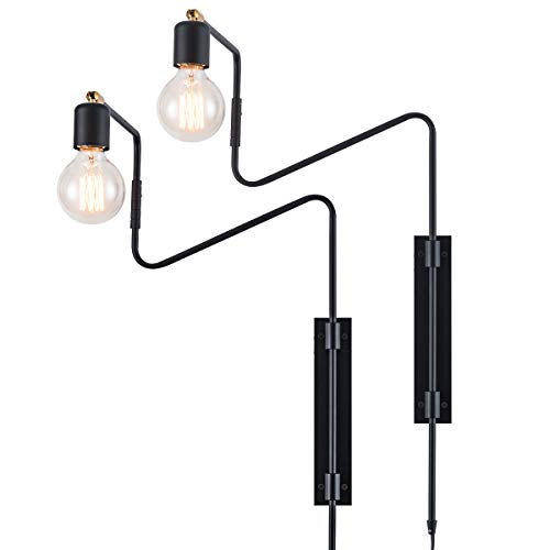 long wall sconce plug in - 2