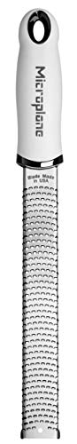 """Microplane Premium Made in USA Zester Grater, 13"""", White"""