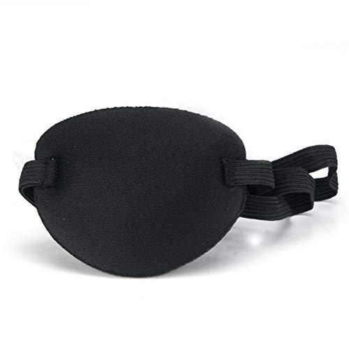 lolly-U Eye Patch Cosplay Accesorios de disfraz para adultos niños, ajustable suave y cómodo parche de ojo pirata única máscara para ambliopía ojo perezoso ojo