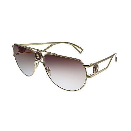 Versace VE 2225 10020P - Gafas de sol de aviador, color marrón