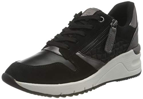 Tamaris Damen 1-1-23702-26 Sneaker, Sneaker, blk/pewter com, 39 EU