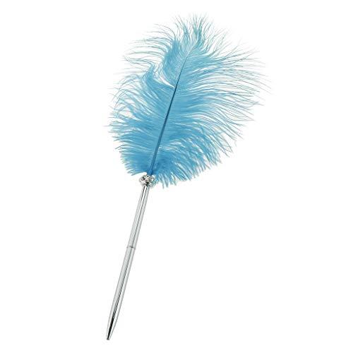 yotijar Vintage Pluma bolígrafo de bola para boda Signo bolígrafo oficina oficina en casa papelería Accesorios 16' – Azul