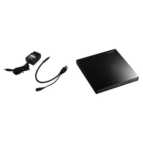 I-O DATA バスパワーUSB機器対応 ACアダプター USB-ACADP5R+I-O DATA Blu-ray ブルーレイ BDドライブ mac 外付け ポータブル USB3.0/バスパワー対応 薄型モデル EX-BD03K