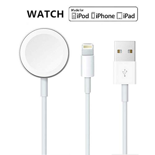 Uhren-Ladekabel für iWatch 5/4/3/2/1, 2-in-1 kabelloses Ladekabel, kompatibel mit Apple Watch Series 5/4/3/2/1 und 11 Max Pro/XR/XS/XS Max/X/8Plus/7/7Plus/6