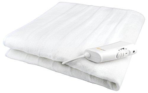Medisana Wärmeunterbett, 2 Temperaturstufen, Fleece, Weiß, 150 x 80 x 3 cm
