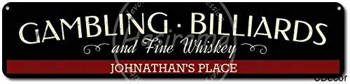 NOT Gambling Billiards & Fine Whiskey Blechschild Plaque Vintage Retro Eisen Wand Warnung Poster Dekor Für Bar Cafe Shop Home Garage Büro Hotel