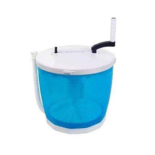WFFH Mini Waschmaschine, Handbetriebene Waschen + Trocknen Maschine Manuell Mini Garment Waschmaschine Gemüse Obst Reinigung 2Kg Einzel Tub Wäschetrockner,Blau