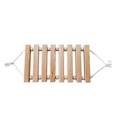 Hong Yi Fei-shop Einstellbare Schaukel Pine Logs Swing Handpolierter robuster Kinderstuhl für den Außenbereich Klappschaukel