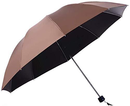 Regenschirm Super Large Männlich Und Weiblich Doppelschüler Dreifach Faltbar Plus Großer Mehrzweck-sonnenschutz Uv Sonnenschutz-braun Regenschirm Sturmsicher Lightweight Wunderschönen Rutschsicherem