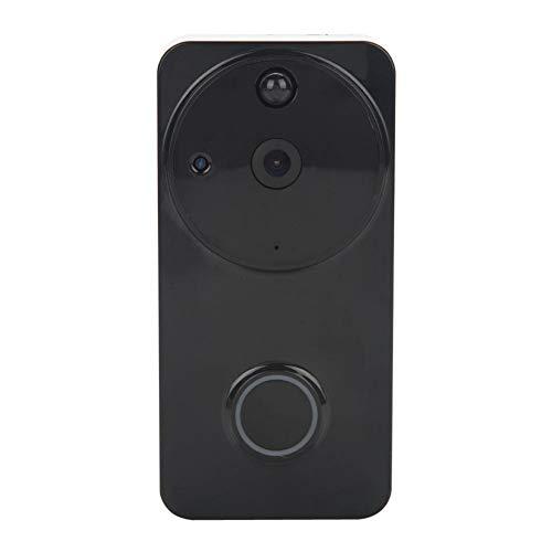 WiFi video deurbel, 1280 * 720 HD Wireless Video Intercom deurbel met 166 ° groothoek, bewakingscamera deurbel huisalarm ondersteuning voor iOS, voor Android mobiele apparaten, zwart