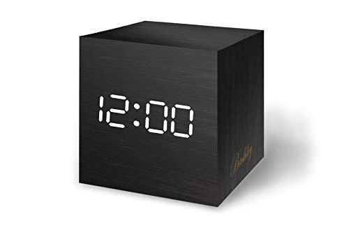 Bashley Reloj Despertador Madera Luz LED Digital Mini