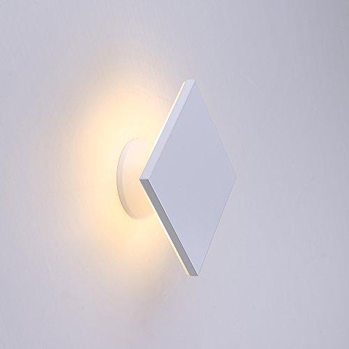 Lampada 6 W da parete Lanfu bianco caldo luci parete design LED eleganti e moderni, ideali per camere da letto, soggiorno, scale e saloni, 150 * 150 * 74mm [A +]