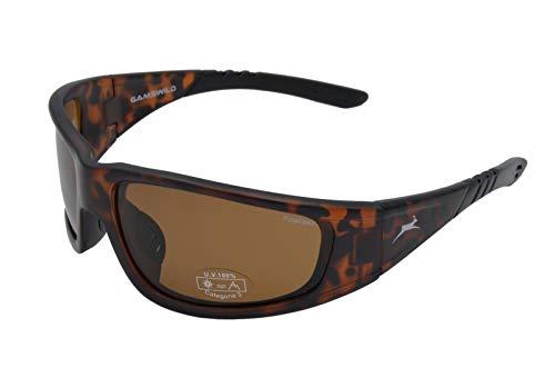 Gamswild Sonnenbrille WS9131 Sportbrille Skibrille Fahrradbrille Damen Herren Unisex | schwarz | braun | grau-transparent, Farbe: Braun