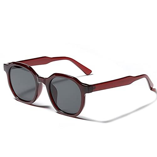 Gafas De Sol Gafas De Sol Clásicas para Mujer Nuevas Gafas Retro Vintage Hombres Rectángulo Lente Uv400 Negro Winered