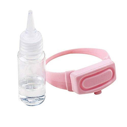 Outdoor Restaurant Krankenhaus Schule BüRo Tragbare Silikonfett Armband Armband Handheld Maschine Mit Quetschflasche Kann Sonnenschutz HäNdedesinfektionsmittel MüCkenschutz Wasser Speichern,Pink
