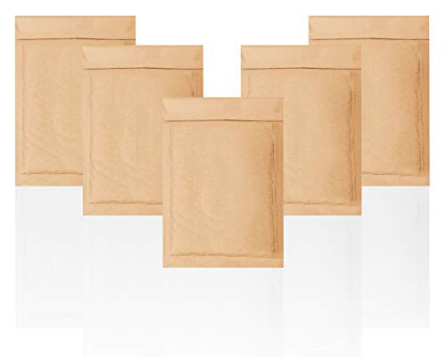 Natural Kraft Bubble mailers 7.25 x 11 Brown Padded envelopes 7 1/4 x 11 by Amiff. Pack of 20 Kraft Paper Cushion envelopes. Exterior Size 8.25 x 11.5 (8 1/4 x 11 1/2). Peel and Seal.