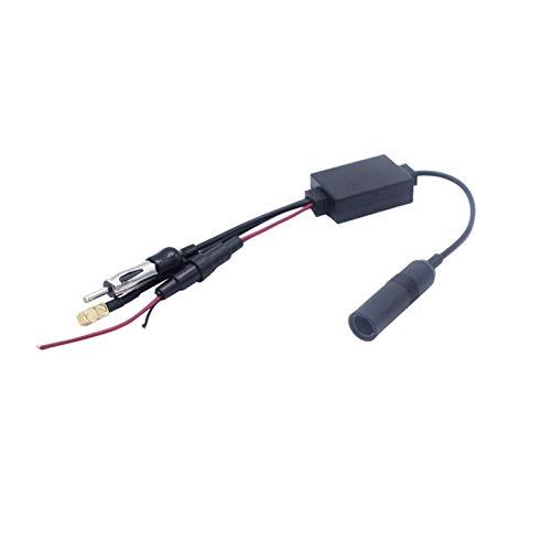LIZONGFQ Zhang Asia Dab + Car Splitter Adaptador Antena Activa Radio Auto FM Antena Amplificador de señal Crossover 12V Universal (Color : Black)