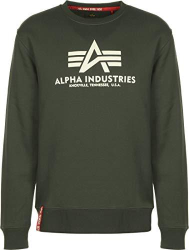 ALPHA INDUSTRIES Herren Basic Sweatshirt, Vintage Grün, XL