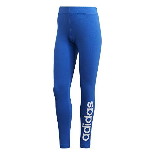 adidas Damen Essentials Linear Tights, Blue/White, M