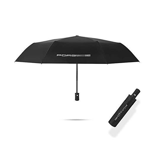 ZGYQGOO Automatischer Regenschirm fuuml;r 2019 Schwarz Ford Volvo KIA Logo Frauen Mauml;nner Winddichte Regenschirme Mauml;nnlich