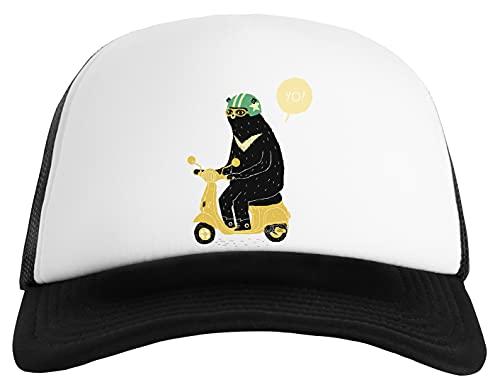Gunmant Soportar Equitación Scooter Gorra Clásica De Béisbol para Hombre y Mujer Unisex Ajustable Snapback Baseball Cap