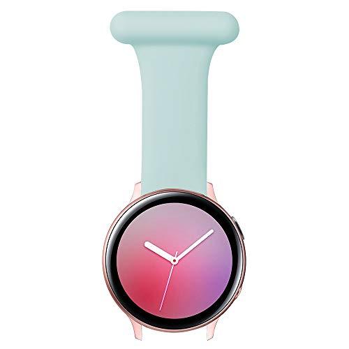 Vozehui Pin Fob Correa compatible con Samsung Galaxy Watch 3/Active 1,2 (40/44 mm)/Gear S2 Classic/Huawei Watch 2/GT2 42 mm con correa de diseño antiepidémico para enfermeras, paramédicos, méd