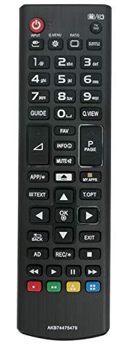 ALLIMITY AKB74475479 Control Remoto reemplazado por LG TV 24MT35S 26LS3590 29LN460R 32LB570B 32LB570U 32LB570V 32LB5800 32LB580U 32LB580V 32LF5800 32LF580V 32LH510B 32LH530V 32LN570R