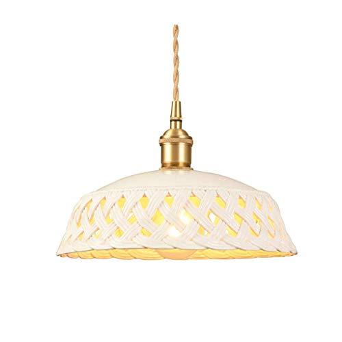 XJJZS Blanca de la lámpara - Difusor de cerámica, Sencillo y Fresco Estilo de una Sola Cabeza de la lámpara
