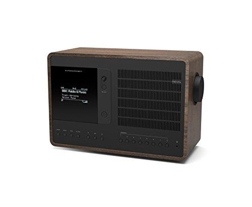 Revo SuperConnect Wireless Music System with Internet Radio, Spotify Connect, Wi-Fi, FM, and Bluetooth - Walnut/Black