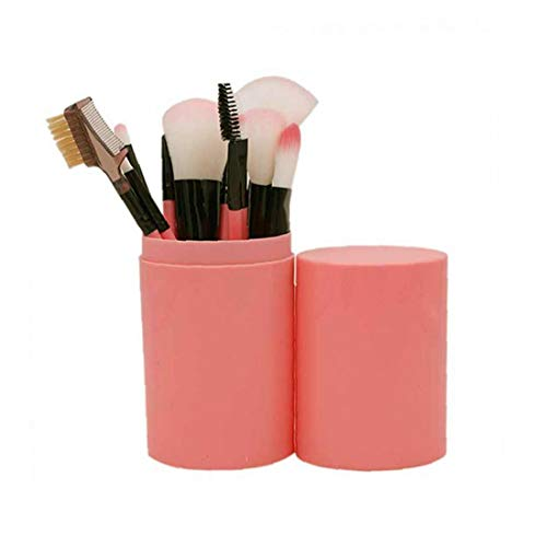 Pinceau de maquillage Set débutants Ensemble complet d'outils de maquillage Barrel brosse de poignée en plastique Maquillage Barrel Powder Puff Correcteur Ombre à paupières pinceau blush