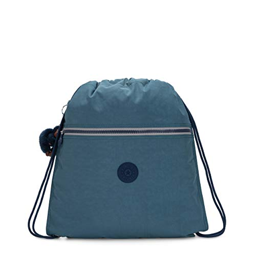 Kipling SUPERTABOO Mochila Escolar, Multicolor (Baltic Aqua)