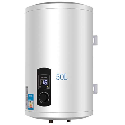 FlowerW 50L Elektrische Warmwasserbereiter 2KW Warmwasserbereiter mit Tank Warmwasserbereiter für Küche,Bad (50L)