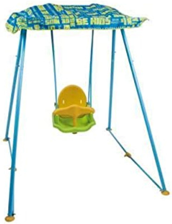 Schaukel hellblau Kinder 160x 130x 150cm Strand Garten pea5133