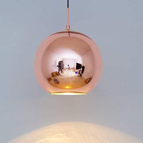 XXYHYQHJD Luz pendiente moderna Restaurante Bar Escaleras Tienda Estudio Sala de exposiciones Lámpara colgante recubrimiento de oro Colores de cristal colgante Sala Comedor redondo decorativo interior