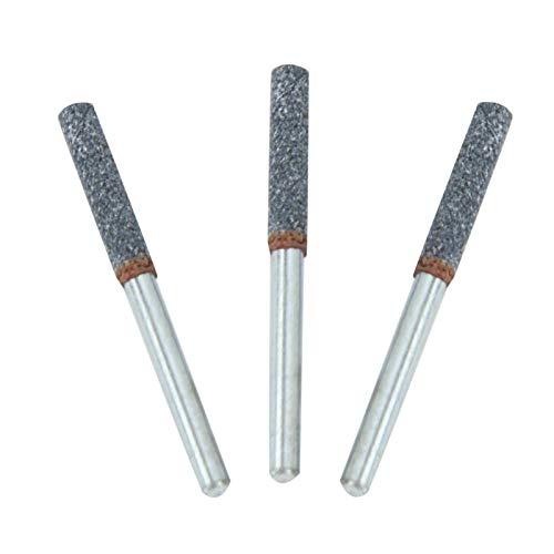 Goshyda Kettensägen-Zahnschärfer, Sawbuddies 3-teiliges Steinfeilenschärfwerkzeug Kettensägenschärfer, 4 mm 5/32 '' poliertes Metall. Für Mini-Elektroschleifer