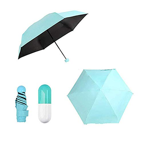 Renquen Mini opvouwbare paraplu compacte anti-UV paraplu voor vrouwen meisje kind, met capsule case