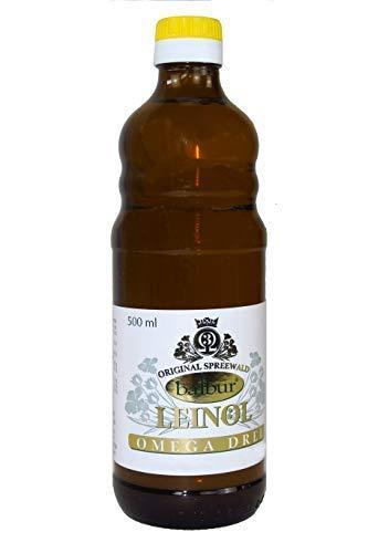 Leinöl aus dem Spreewald 500ml - kaltgepresst naturbelassen mit Omega-3-Fetts...