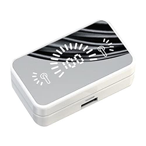 YOPOTIKA TWS Auriculares con micrófono incorporado en auriculares deportivos impermeables con caja de carga