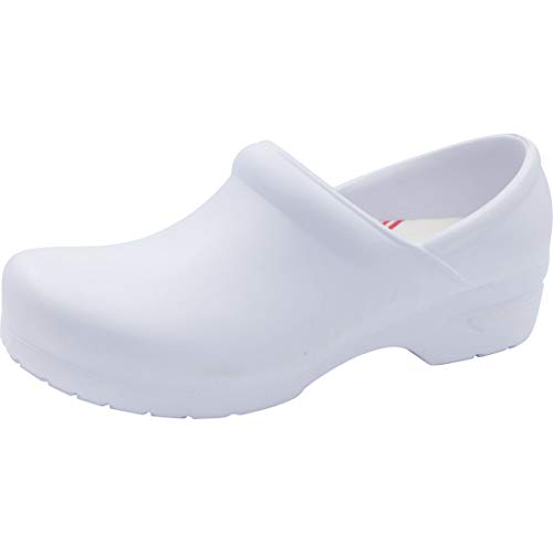 Anywear Guardian Angel Women's Healthcare Professional Footwear SR Antimicrobial Plastic Stepin, 9, White