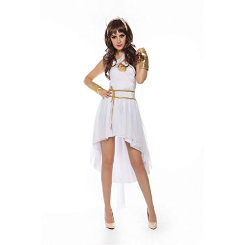 GBYAY Disfraz de Cosplay Vestido de Adulto de Mujer de Halloween Ángel Blanco Fantasías Ropa de Fiesta Disfraz de Escenario