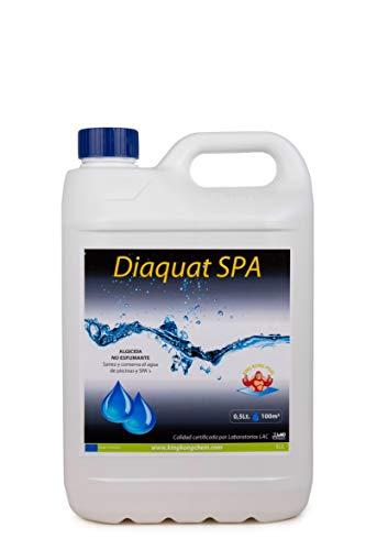 DIASA INDUSTRIAL Algicida no espumante DIAQUAT SPA 5 L - Antialgas de acción rápida - Sin Cobre