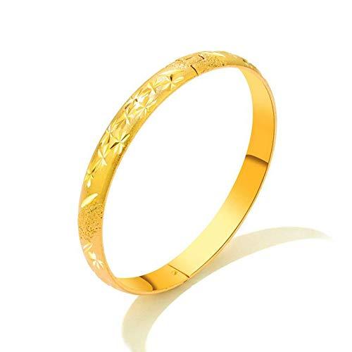 Hao Ting Joyas de cobre chapado en oro, pulseras femeninas adornadas con estrellas