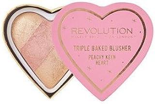 Makeup Revolution Blushing Hearts Triple Baked Blusher Peachy Keen Heart