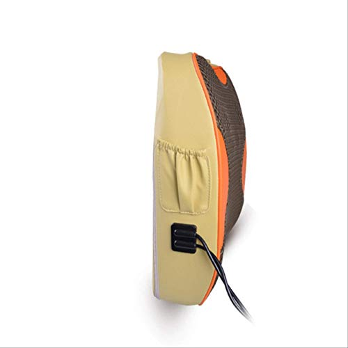 Abrazadera Masaje Mat Termostato Termo Masajeador De Calor Cintura Espalda Casa Push Masaje Almohada Color caqui 46 * 13 * 35cm