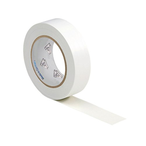 AUPROTEC 1 Rolle VDE Isolierband Isoband Elektriker Klebeband PVC 15mm x 10m DIN EN 60454-3-1 Farbe: weiß