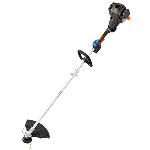 LawnMaster NPTGSP2517A No-Pull Gas Grass Trimmer with Electric Start 25cc 2 Cycle,17-Inch