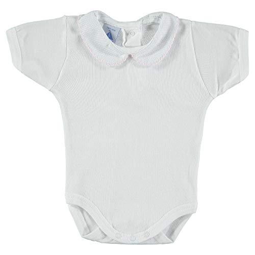 BABIDU 1181 Body m/c Cuello Bebe Pique Ropa de Bautizo, Rosa (Rosa 3), 86 (Tamaño del Fabricante:18) Unisex bebé