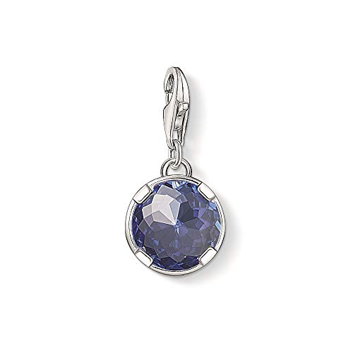 THOMAS SABO Damen-Charm 925 Silber Synthetischer Saphir blau - 1223-037-32