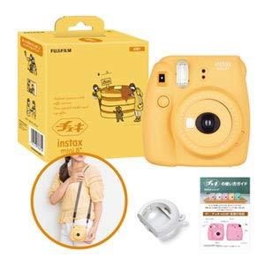 富士フイルムFUJIFILMインスタントカメラチェキinstaxmini8プラス接写レンズ・純正ショルダーストラップ付きハニー60cmから撮影可能、(接写レンズ使用時35cm-50cm)INSMINI8PLUSHONEY